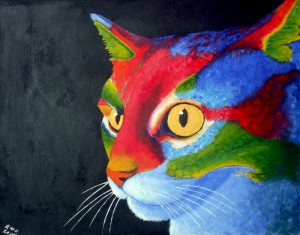RICHARD-CLAYTON-colourful-cat