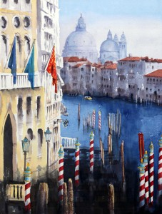 ROS RIDLEY - 'From the Academia Bridge, Venice' - Watercolour