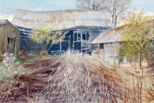 JOHN-JARRAT-Last-Year's-Weeds-Barns-at-Therfield