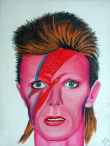 RICHARD-CLAYTON-David-Bowie-Acrylic-on-Canvass