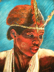 VAL PETTIFER, Khoisan-Girl