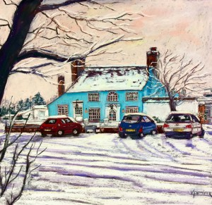 VAL PETTIFER, Winter at the Tickell Arms