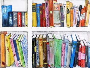 Artist: Pamela BarrellTitle: Summer Reading I