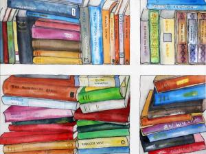 Artist: Pamela BarrellTitle: Summer Reading II
