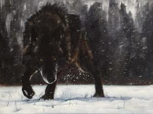 Artist: David BowmanTitle: Wolf in snow