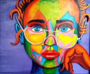 Artist: Richard ClaytonTitle: Girl with Broken Glasses