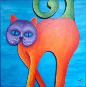 Artist: Richard ClaytonTitle: Orange Cat
