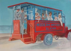 Artist:  Vivienne MachellTitle:  Day Trip 1924