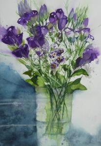 Artist: Carol WhitehouseTitle: Lisianthus and Gypsophila