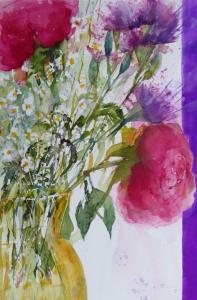 Artist: Carol WhitehouseTitle: Yellow Vase of Flowers