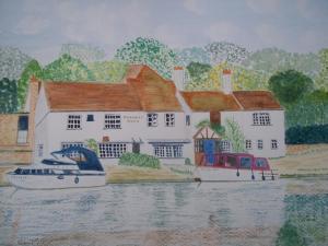 Artist: Carl FilbyTitle: Ye Olde Leatherne Bottle at Goring-on-Thames