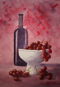 Artist: Peter MorganTitle: Still Life with Grapes