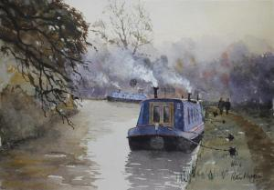 Artist: Peter MorganTitle: A November Morning on the Stratford Canal