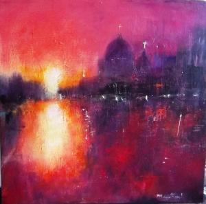 Artist: Carol MountfordTitle: Crimson Venice