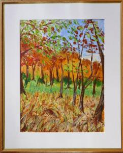 Artist: Sue SandersTitle: Newsells Trees